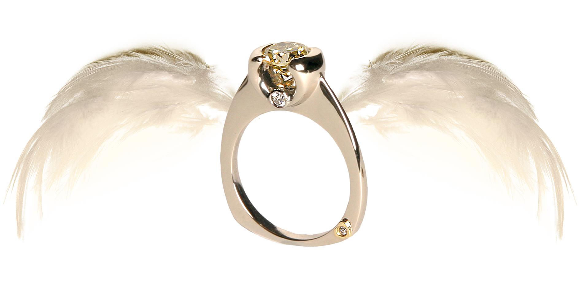 Coloured Diamond Ring